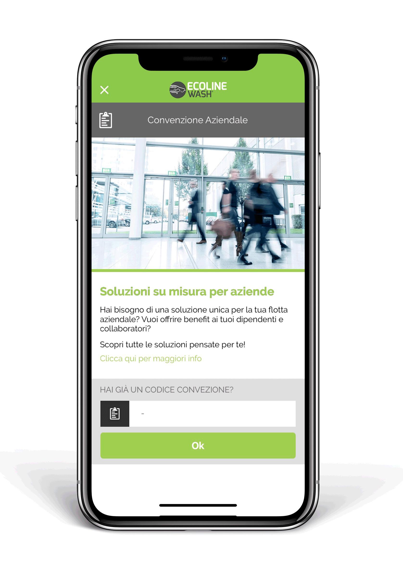 App Ecoline Wash per aziende