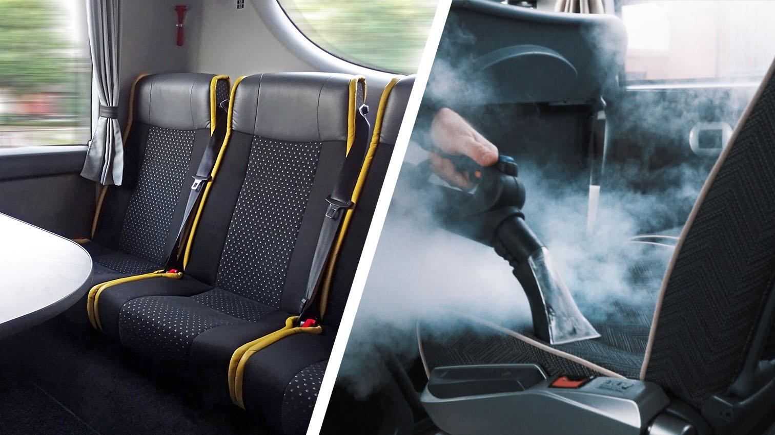 Igienizzazione sedili pullman e autobus
