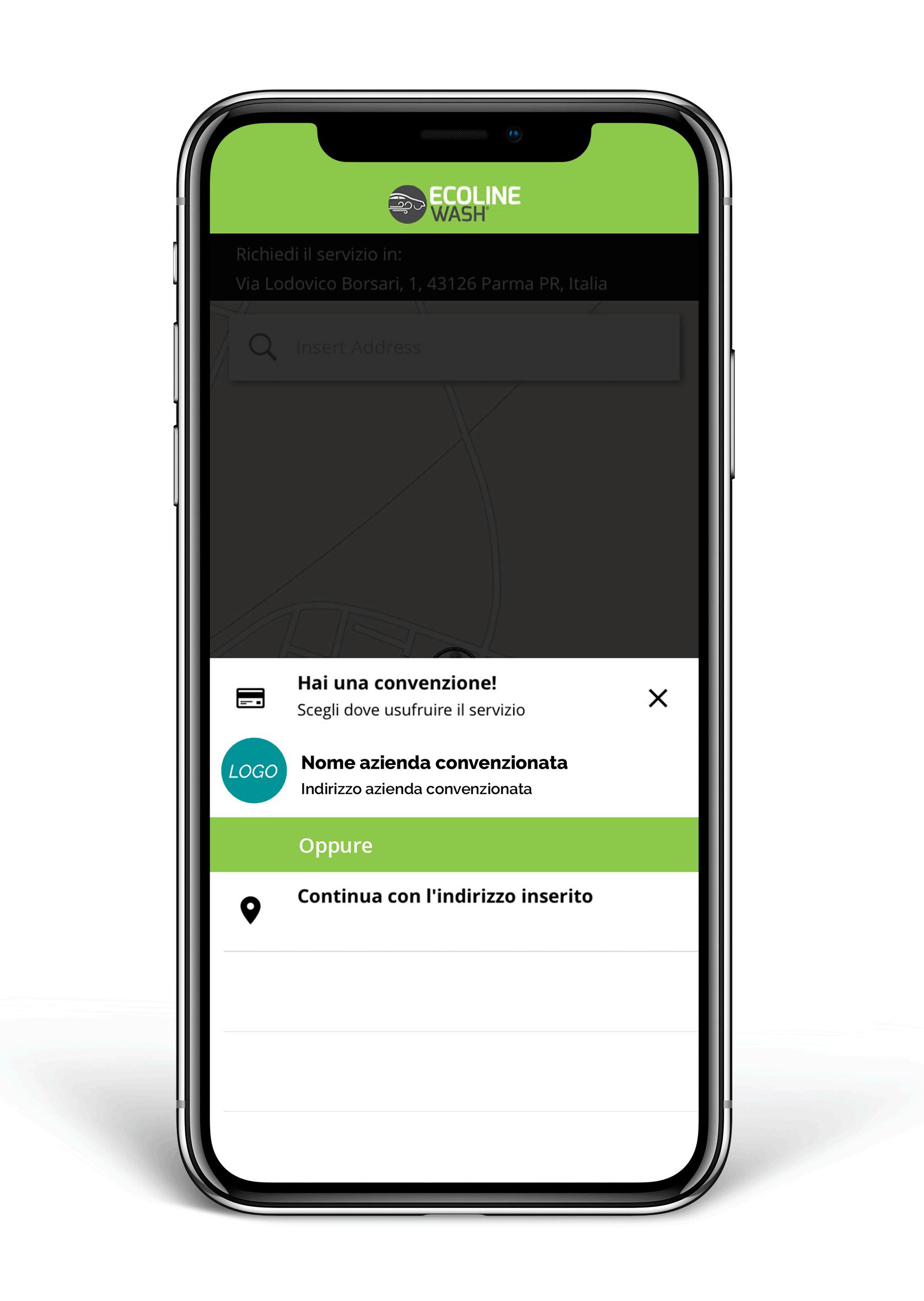App Ecoline Wash per convenzioni aziendali