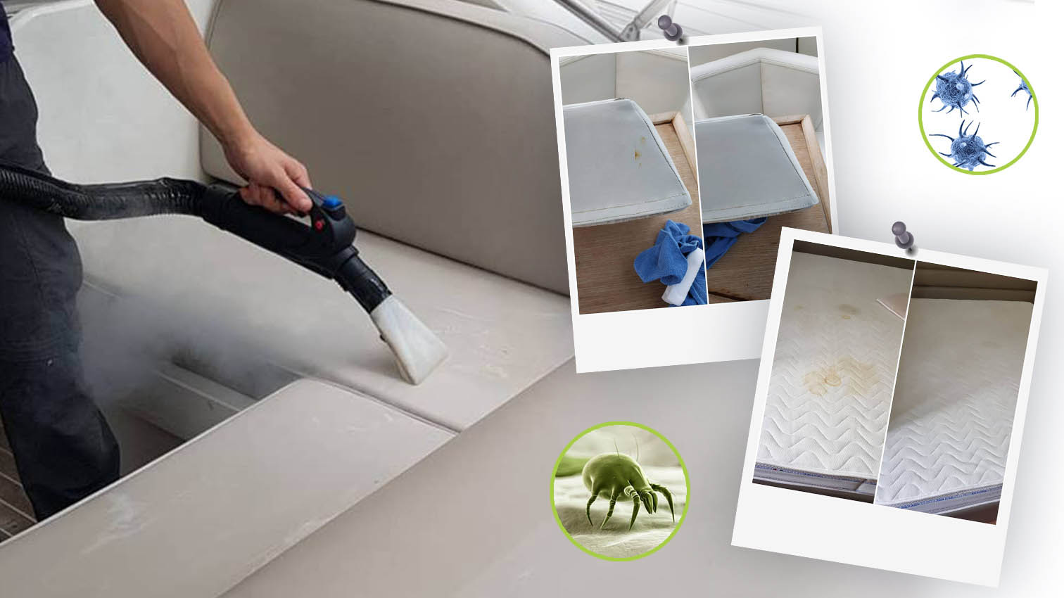 Igienizzazione divanetti e materassi