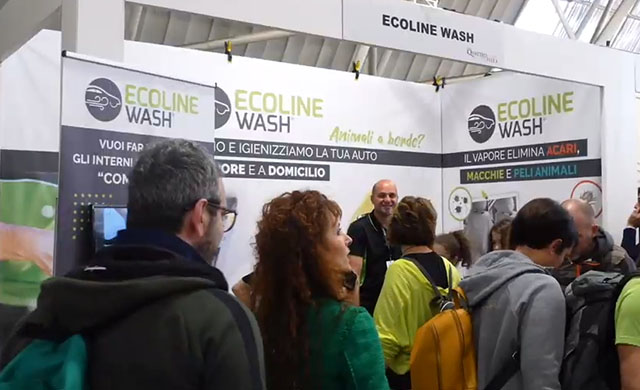 Ecoline Wash presentea Quattro Zampe in fiera a Novegro