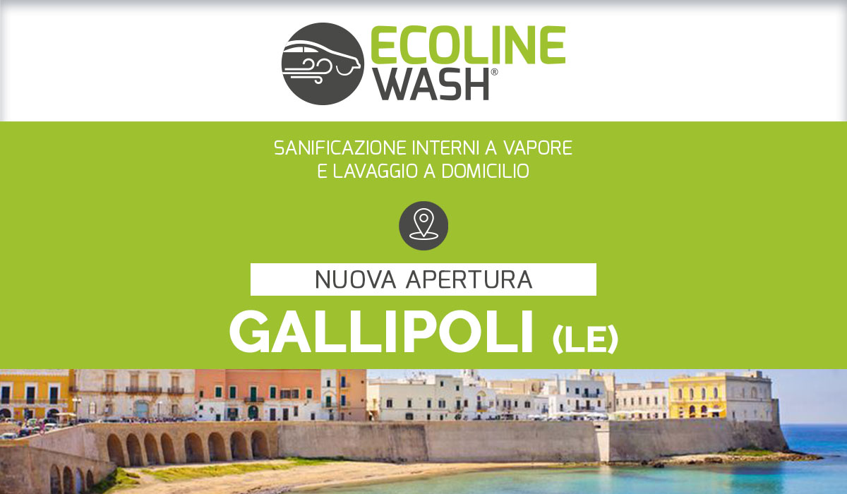 il lavaggio auto a domicilio e sanificazione a vapore apre a Gallipoli
