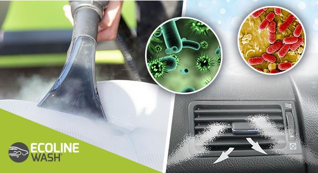 sanificazione a vapore per tutti i tipi di veicoli